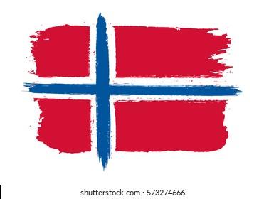 Grunge Norway flag.Vector flag of Norway.