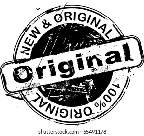 Grunge office rubber stamp with the word original (vector)