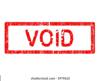 Grunge Office Stamp with the word VOID in a grunge splattered text. (Letters have been uniquely designed and created by hand)