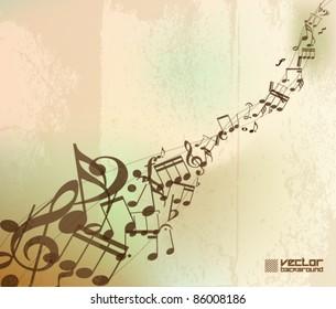 grunge old music vector background design