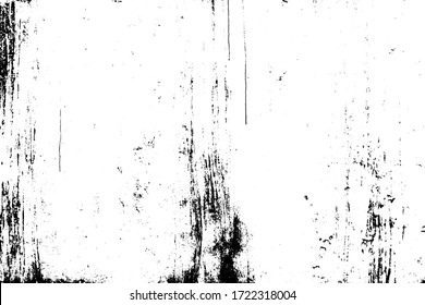 Grunge old texture in black and white. Aged liquid surface with scratches, gaps, splits and crumbling stone. Distressed overlay for creating openwork background in 3D design of country loft interior