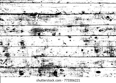 Grunge old wood black cover template. Wooden dry planks distressed overlay texture with knot. Weathered rural grainy timber backdrop. Aged dried board creative element. EPS10 vector.