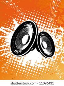 Grunge Orange Party Speaker