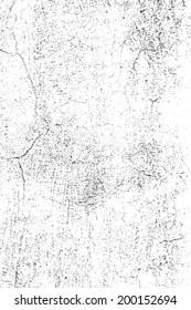 Grunge Overlay Texture - Cracked Plaster. EPS10 vector.