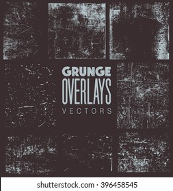 Grunge Overlays vector