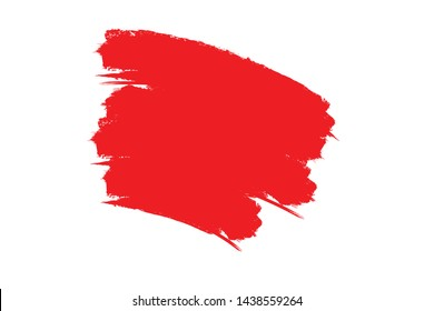 Grunge Paint Roller . Vector brush Stroke . Distressed banner . Red stripes , paintbrush collection . Modern Textured shape . Dry border in Black . Bulge lines