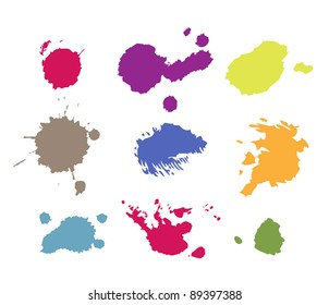 grunge paint splashes drips and splatter