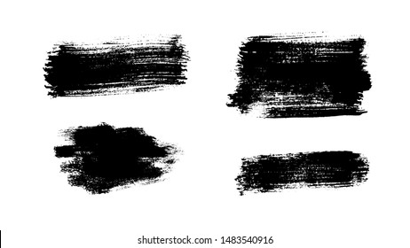 Grunge paint strokes set. Ink backgrounds. Highly detailed grunge textures. Acrylic paint strokes. Splatter. Scrawl. Place for text or logo. Grunge overlays.