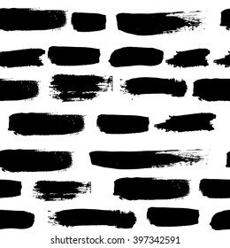 grunge pattern of black strokes