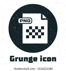 Grunge PNG file document. Download png button icon isolated on white background. PNG file symbol.  Vector Illustration