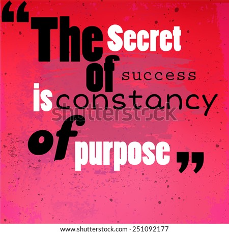 Grunge Quote The Secret Success Constancy Stock Vector Royalty Free