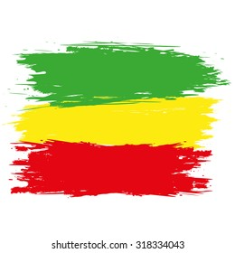 Rasta Colours Art Flag Retro Oldschool Jamaican Classic Poster Colorful Print
