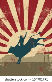 Grunge rodeo poster,vector