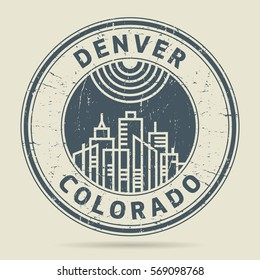 Grunge rubber stamp or label with text Denver, Colorado written inside, vector illustration