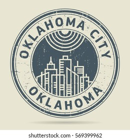 Grunge rubber stamp or label with text Oklahoma City, Oklahoma written inside, vector illustration