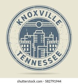 Grunge rubber stamp or label with text Knoxville, Tennessee written inside, vector illustration