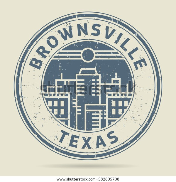 Grunge rubber stamp or label with text Brownsville, Texas written inside, vector illustration