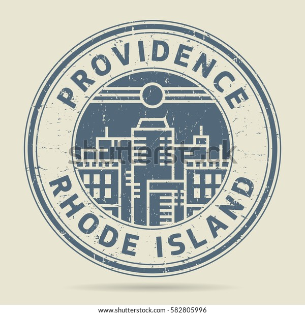 Grunge rubber stamp or label with text Providence, Rhode Island written inside, vector illustration
