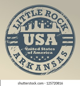 Grunge rubber stamp with name of Arkansas, Little Rock, vector illustration