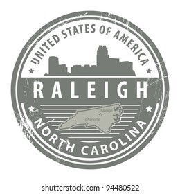 Grunge rubber stamp with name of North Carolina, Dallas, vector illustration