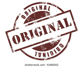 Grunge rubber stamp with original text