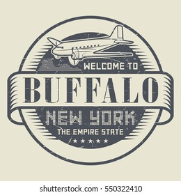 Grunge rubber stamp or tag with text Welcome to Buffalo, New York, vector illustration