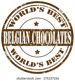Grunge rubber stamp with text Belgian Chocolates,vector illustration
