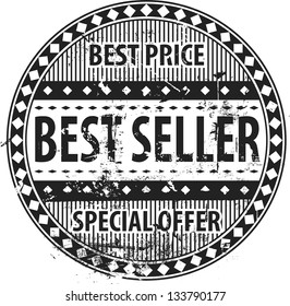 Grunge Rubber Stamp with text Best Seller, Special Offer and Best Price