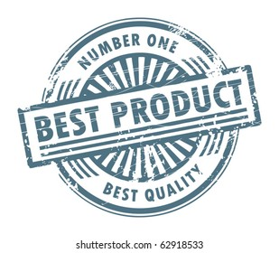 Grunge rubber stamp, with the text best product written inside, vector illustration