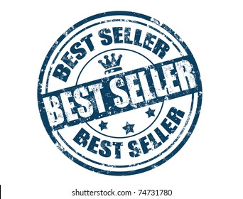Grunge rubber stamp with the text best seller written inside, vector illustration