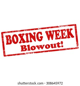 Grunge rubber stamp with text Boxing Week,vector illustration
