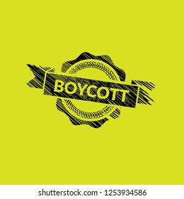 grunge rubber stamp with the text boycott.grunge boycott rubber stamp, label, badge, logo,seal