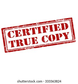 Certified True Copy Images Stock Photos Vectors