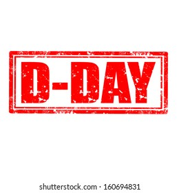 Grunge rubber stamp with text D-Day,vector illustration