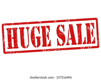Grunge rubber stamp with text Huge sale, vector illustration