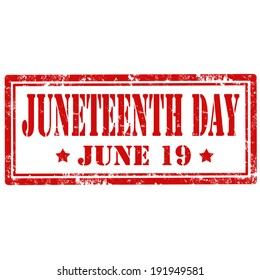 Grunge rubber stamp with text Juneteenth Day,vector illustration