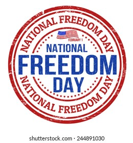 Grunge rubber stamp with the text National Freedom Day written inside, vector illustration