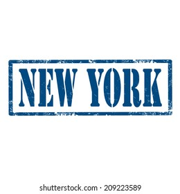 Grunge rubber stamp with text New York,vector illustration
