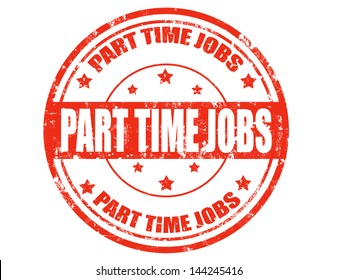 Grunge rubber stamp with text Part time jobs inside,vector illustration