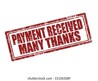 Grunge rubber stamp with text Payment Received,vector illustration