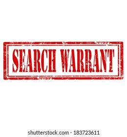 Grunge rubber stamp with text Search Warrant,vector illustration