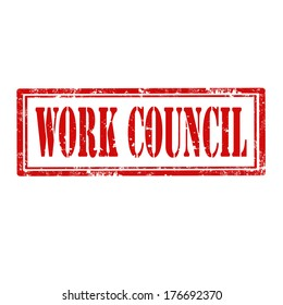 Grunge rubber stamp with text Work Council,vector illustration