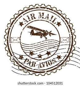 Grunge rubber stamp / Vector grunge air mail