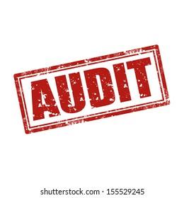 Grunge rubber stamp with word Audit,vector illustration