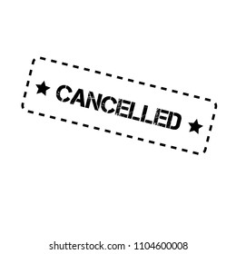 grunge rubber stamp with word cancelled inside,vector illustration