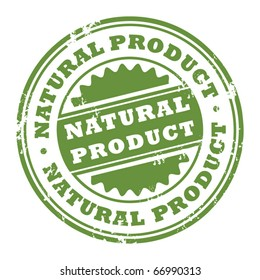 Grunge rubber stamp with the word Natural Product inside, vector illustration