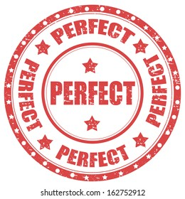Grunge rubber stamp with word Perfect,vector illustration