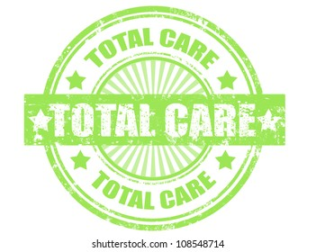 grunge rubber stamp with word total care inside,vector illustration