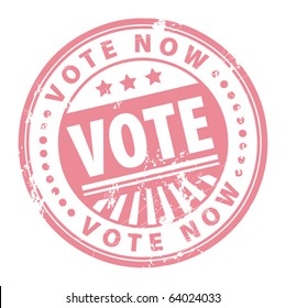 Grunge rubber stamp with the word vote written inside the stamp, vector illustration