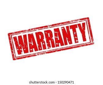 Grunge rubber stamp with word Warranty inside,vector illustration